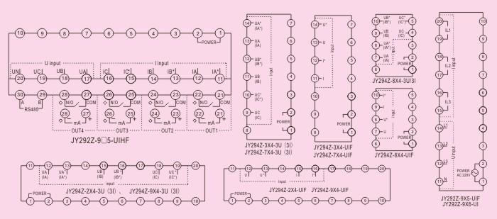 端子排列及接线标识说明